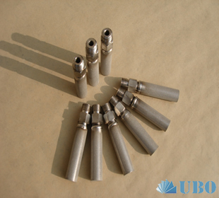 Titanium powder sintered filter cap