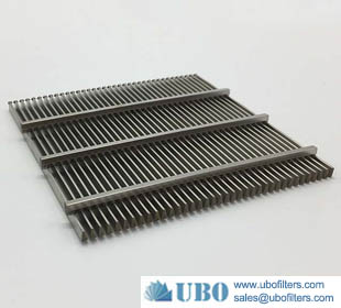 stainless steel flat wedge wire screen panel