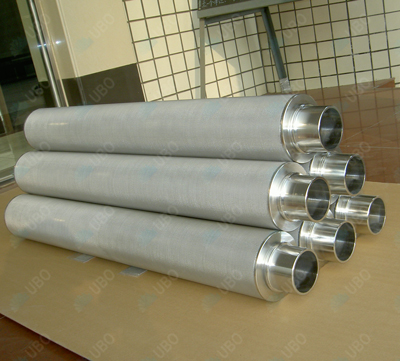 stainless steel sintered mesh hydraulic in line oil filter