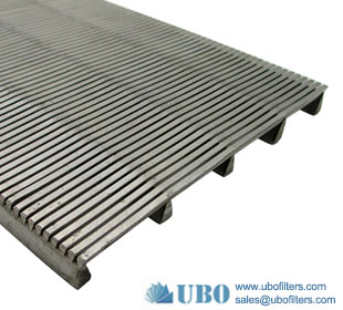Stainless steel304 Wedge wire Screen Panels for wastewater