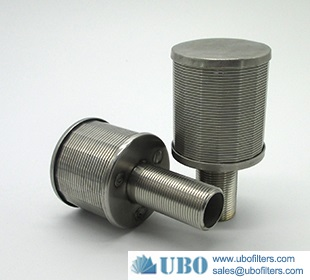 Johnson wire filter nozzle for ion exchange resin column